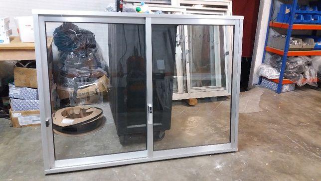 janela alumínio cinza barato usado