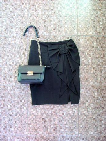 Черная юбка-карандаш / спідниця-олівець