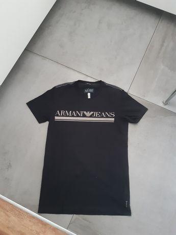 Armani jeans t shirt czarny uniseks extra slim L
