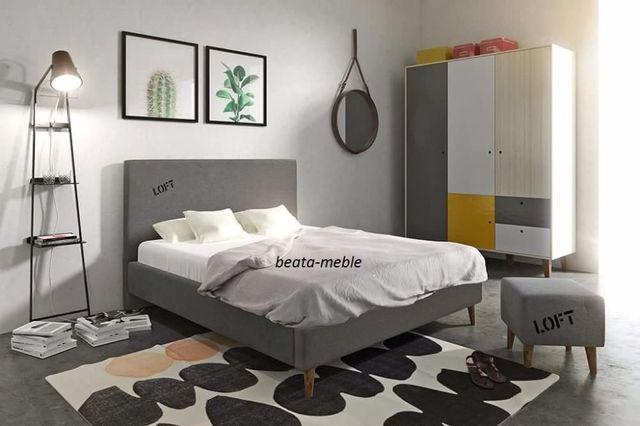 Nowoczesne łóżko Loft 160x200 cm w atrakcyjnej cenie od producenta