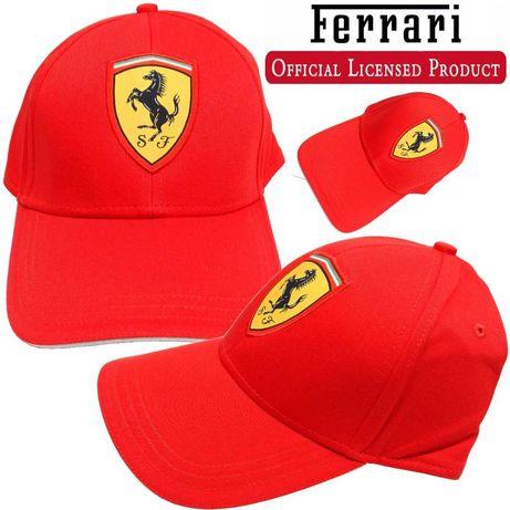 Nowa czerwona czapka z daszkiem Ferrari Classic