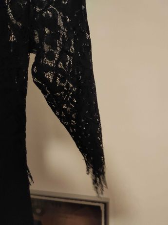 Sukienka czarna koronkowa Zara rozm.S