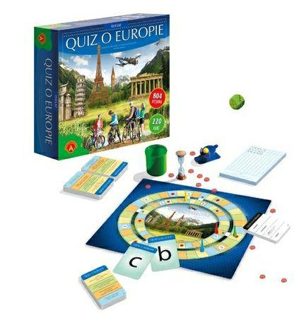 Wielki quiz o Europie  gra planszowa