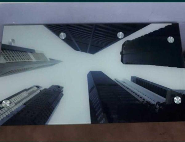Mesa Secretária Tampo Vidro Estrutura Ferro 120x65x73cm