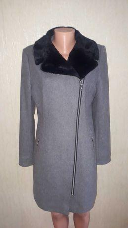 Шерстяное пальто косуха