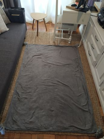 Tapete de sala ou quarto de criança 115x170cm cinzento