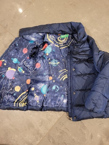 Benetton kurtka zimowa 116-130 unisex