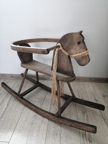 Konik/koń drewniany na biegunach/bujany bujak