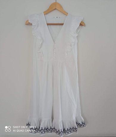 Biała sukienka letnia Mango S
