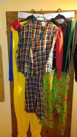 strój karnawałowy kostium klaun dla Pania i Pani roz. S/M, L/XL