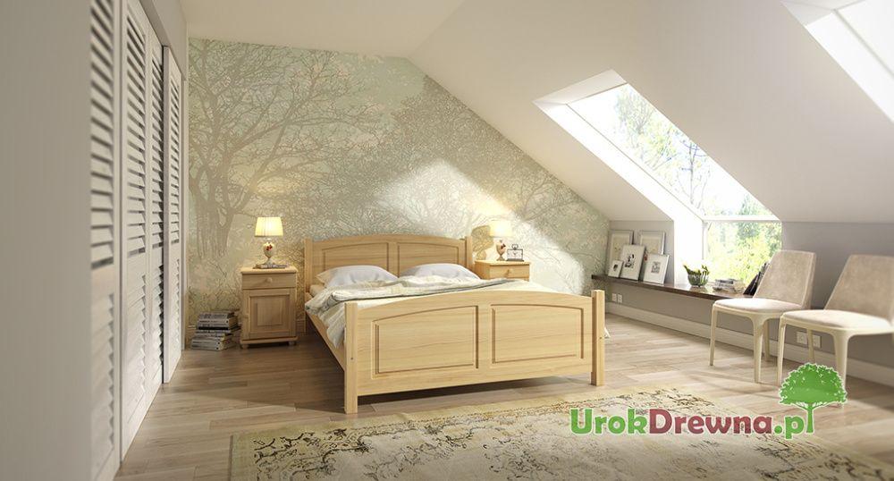 Łóżko drewniane do sypialni sosnowe KOLORY, ROZMIARY, szybka wysyłka Gliwice - image 1