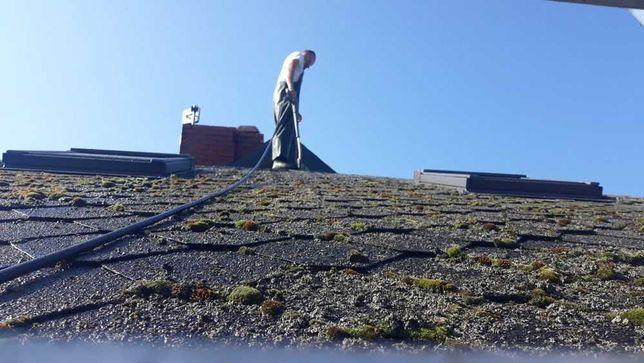Malowanie dachow, czyszczenie elewacji, kostki, dachow