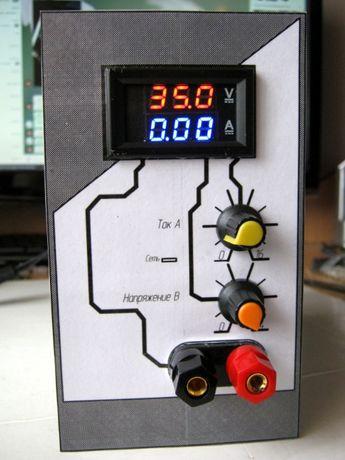 Лабораторный блок питания 0-35В 0-10А Куллер 120мм