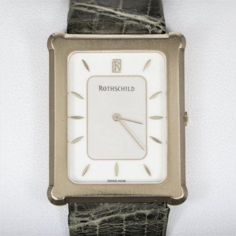 Relógio de PLATINA marca Rothschild como novo com certificado