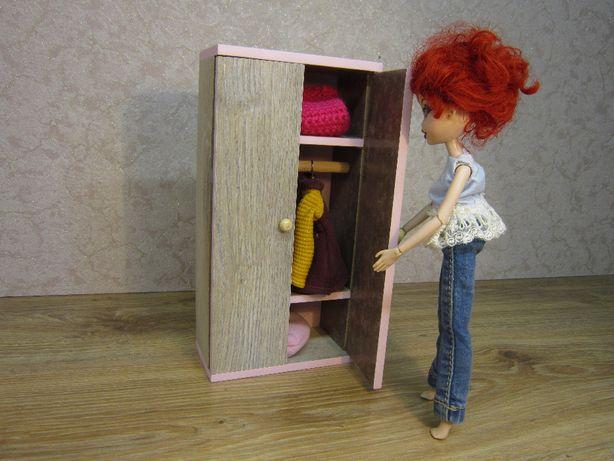 mebelki dla lalek typu barbie szafa na ubrania do domku dla lalek