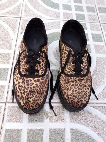 Sapatilhas Zara plataforma pretas tigresa