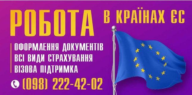 Виготовлення пакету документів для виїзду, робота в ЄС.