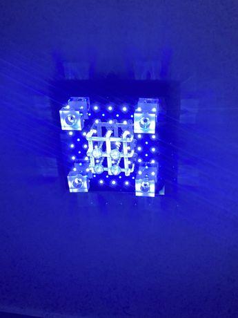 Lampa sufitowa Chrom kryształy zdalne sterowanie
