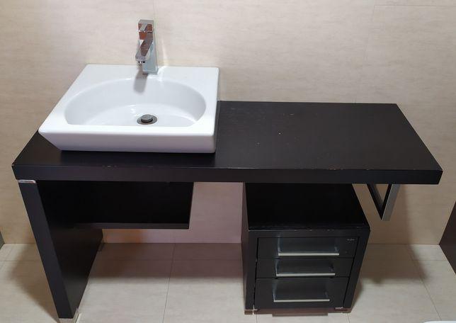 Móvel WC 120cm + Módulo Gavetas