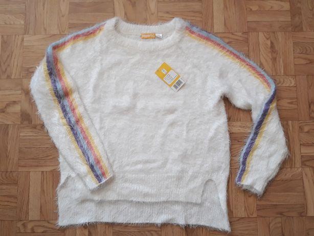 Nowy dziewczęcy sweter sweterek bluza rozm. 134