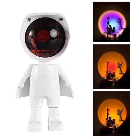 Робот Ночник Проекционный светильник Закат Радужный Торшер