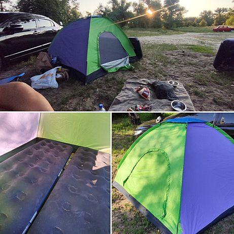 Походная палатка 2×2м, туристическая палатка, компактная палатка