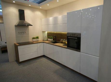 meble kuchenne Aspen , lakier biały połysk, kuchnia