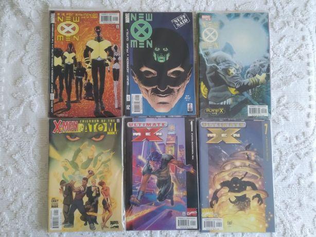 Coleções X-MEN (comics e livros em inglês X-MEN, X-FORCE, Statix)