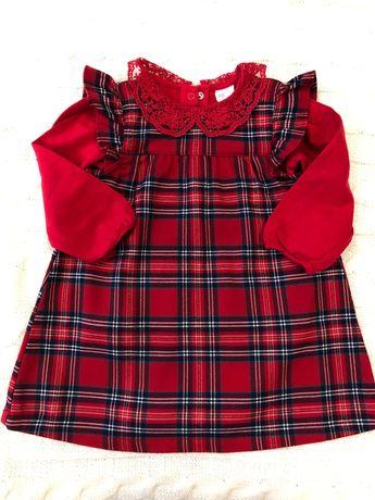 Нарядное новогоднее платье, сарафан для девочки H&M 9-12мес.
