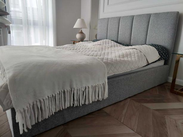 Łóżko tapicerowane z stelażem 160/200 (Szare)