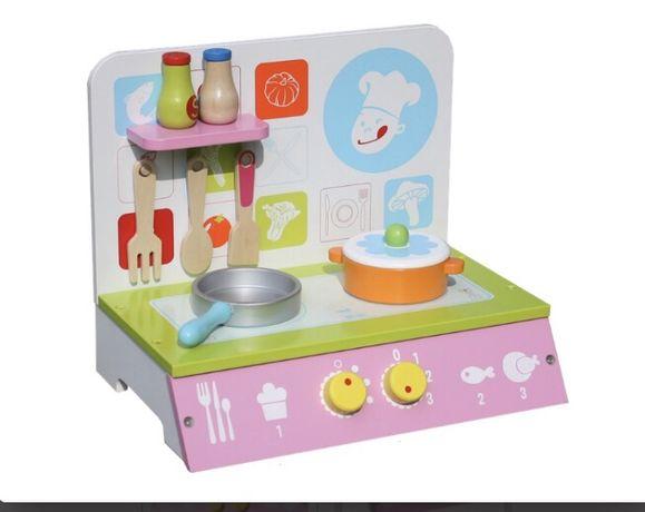 Kuchnia drewniana kuchenka dla dzieci zabawka