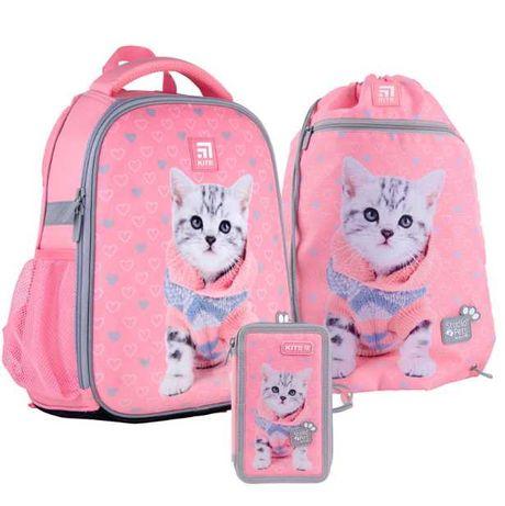Kite школьный ортопедический рюкзак + пенал + сумка для обуви
