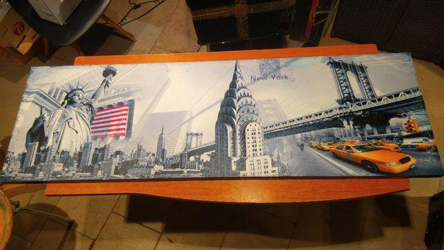Obraz Nowy York Taxi 140x45 cm