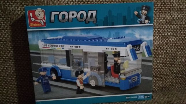 Конструктор типа Лего городской автобус 235 деталей