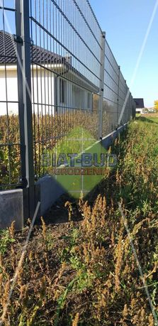 Panel ogrodzeniowy 2D prosty, 6/5/6 wys. 1,03m - 1,63m, ANTRACYT