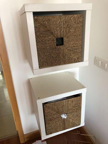 Cubos Kallax IKEA com cestas