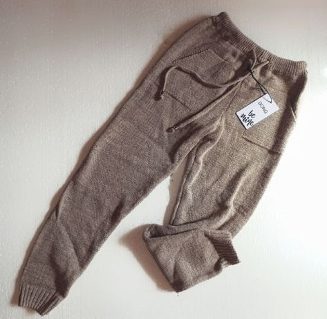 Шерстяные зимные женские штаны