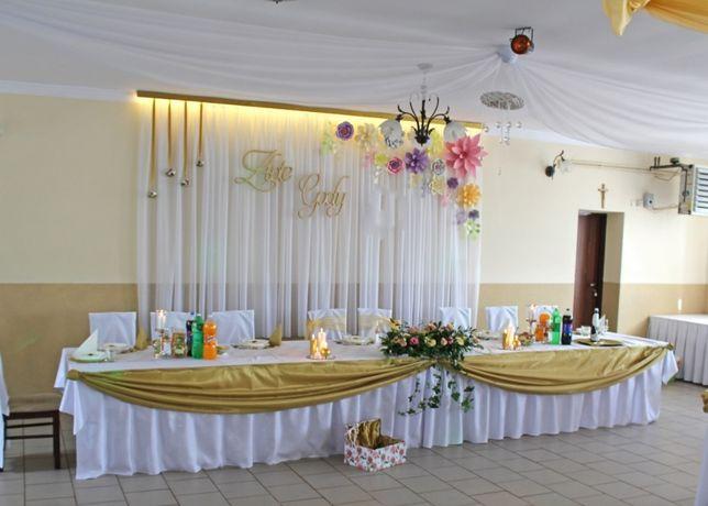 Wystrój sali na Złote Gody * dekoracja na 50-lecie * ubiór lokalu