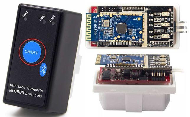 ELM327 V1.5 bluetooth чип PIC18F25K80 с кнопкой 2 платы OBD2 опт дроп