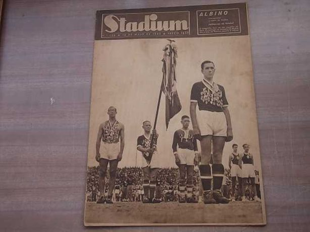 BENFICA - Revista STADIUM nº 128 Ano 1945 FESTA DESPEDIDA de ALBINO