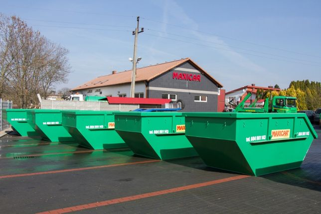 wywóz gruzu odpadów odpady wynajem kontenerów K7 K5 kontener śmieci