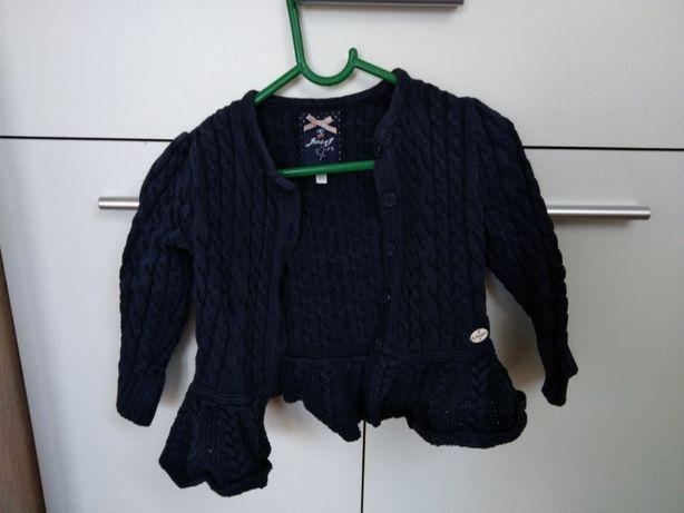 Granatowy sweterek rozpinany 3-4 lata