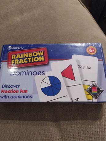Domino ułamkowe, ułamki nowe edukacja przez zabawę