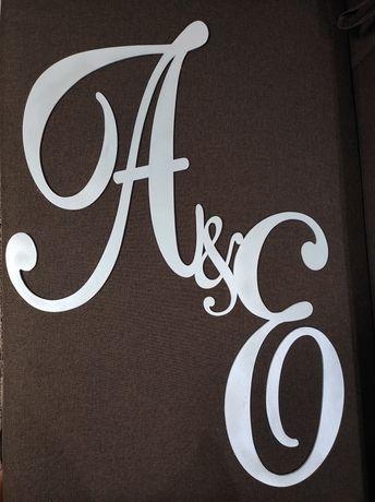 Буквы декоративные, монограмма на свадьбу,свадебные инициалы