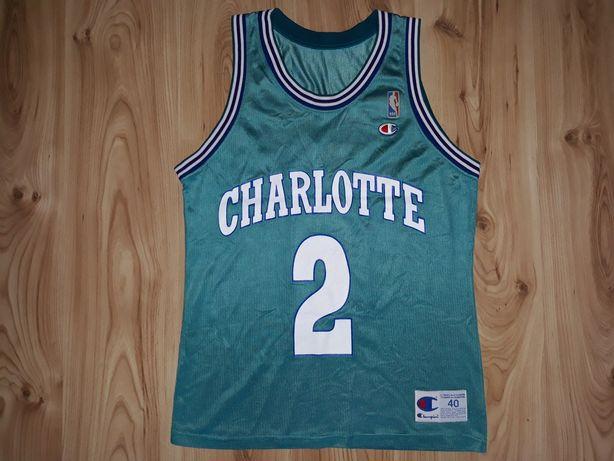 Koszulka M 40 Champion Charlotte Hornets Larry Johnson 2 NBA
