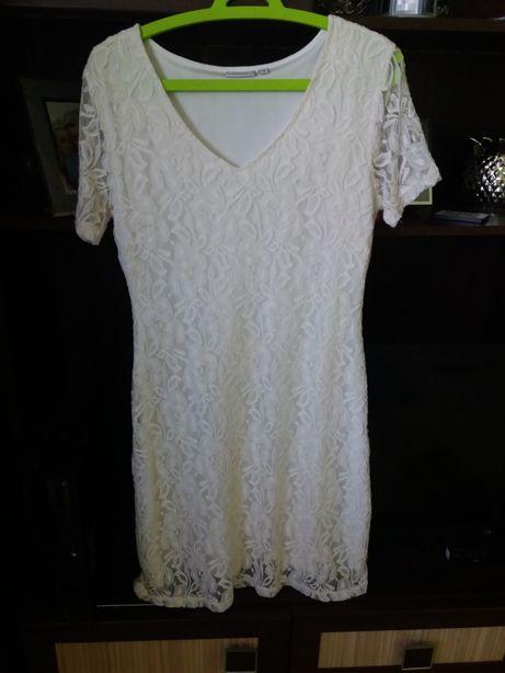 Biała koronkowa sukienka S/M