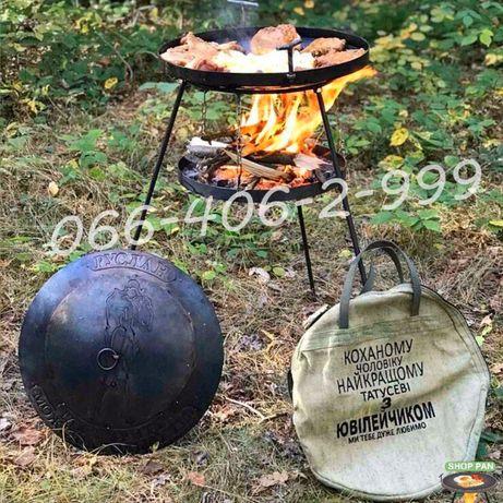Сковорода из диска бороны большая жаровня- гриль для пикника