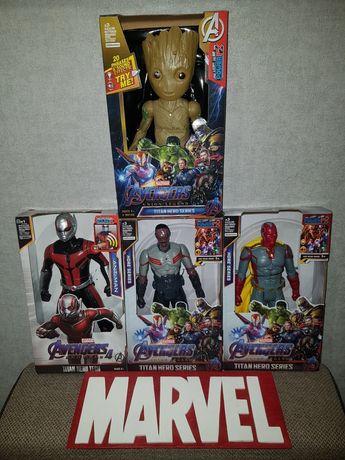 Супергерои Марвел: Вижен,Сокол,Грут,Человек Муравей, свет,звук, 30см.