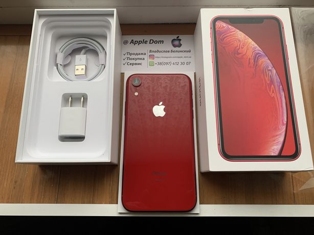 Apple iPhone XR 64gb Red 410$ 7/8/X/XR/11 Max/XS/Max/12