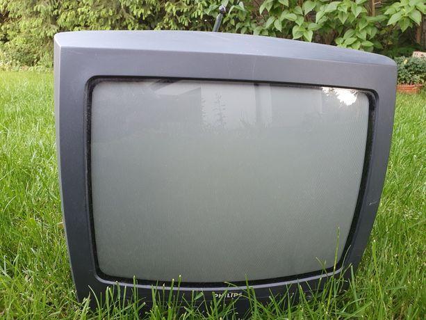 Retro telewizor turystyczny 14 cali Philips euro
